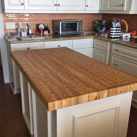 Another custom made island countertop.