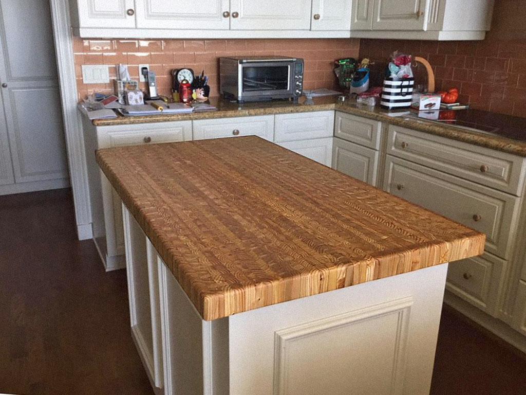 Larch Wood Countertop Kitchen Island White Larch Wood Canada