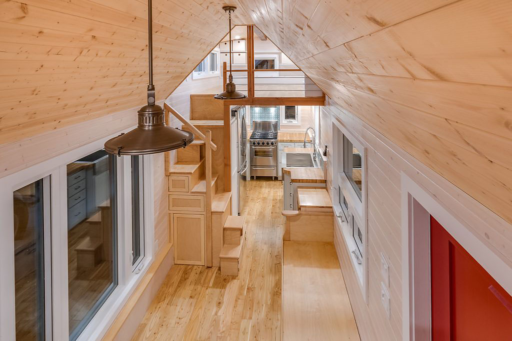 Tiny Home Larch Wood Everywhere