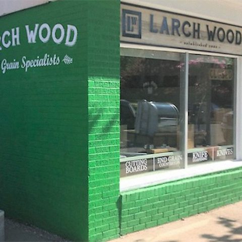 Larch Wood Boutique and Oulet in Wolfville, Nova Scotia.
