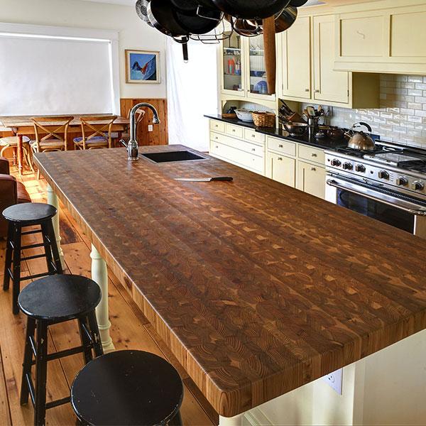 Custom Countertops - Larch Wood Canada